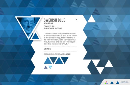 Own a Colour Swedish Blue