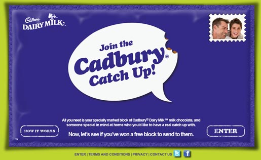 Cadbury Catch Up site