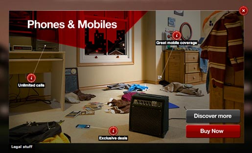 Virgin Media Discover More site - Phones and Mobiles Bedroom