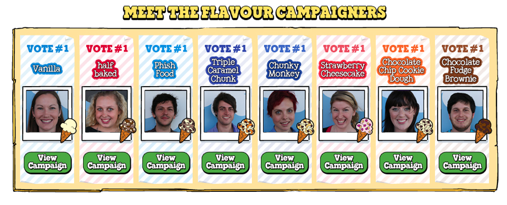 Ben & Jerry's Flavour Election | The Inspiration Room