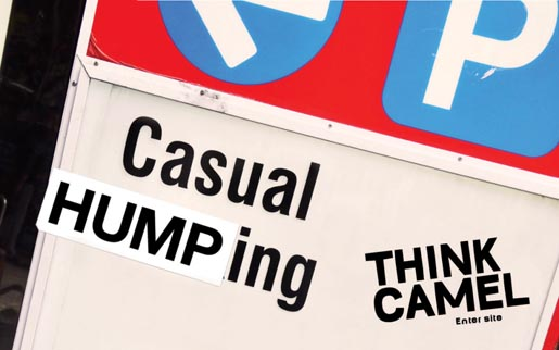 Casual Humping sign on Thirsty Camel web site