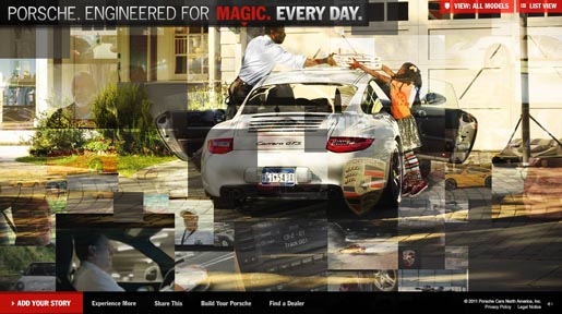 Porsche Engineered for Magic Everyday site