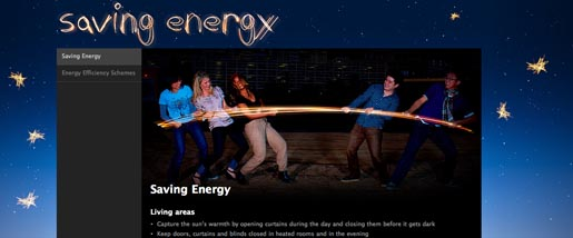 Red Energy Saving Energy