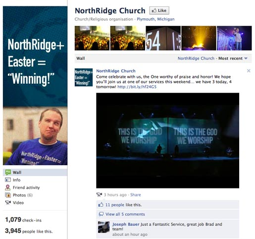 Northbridge + Easter Winning Facebook page