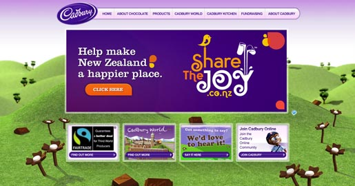Cadbury Share the Joy site