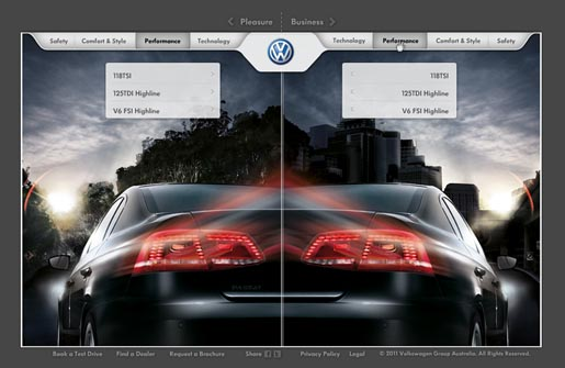 Volkswagen Passat Pleasure Before Business site