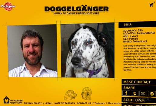 Doppelganger Human to Canine site