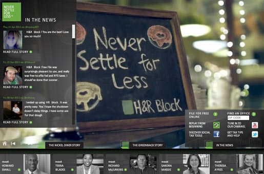 H&R Block Never Settle for Less Diner