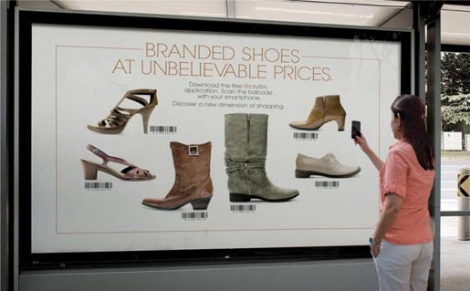 PETA Branded Shoes Stand