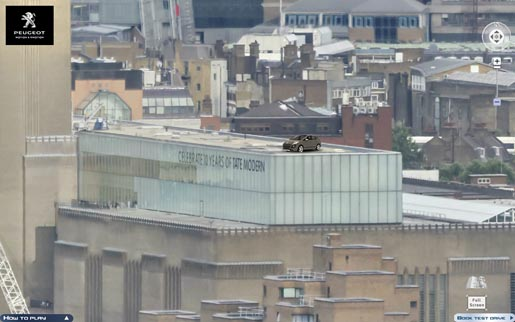 Peugeot 3008 on Tate Building