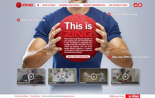 Australia Post Zing site