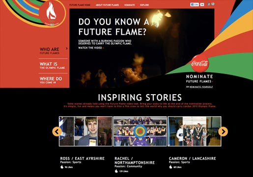 Coca Cola Future Flame site