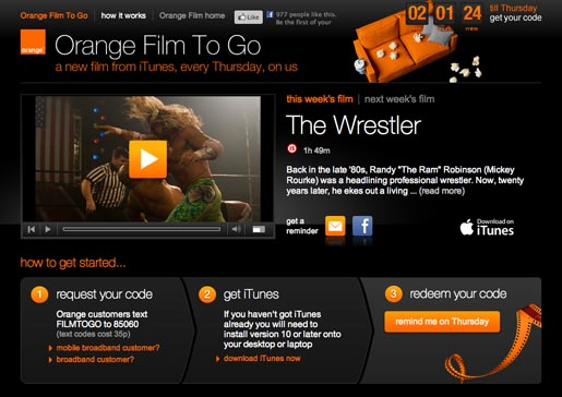 Orange Popcorn Advert