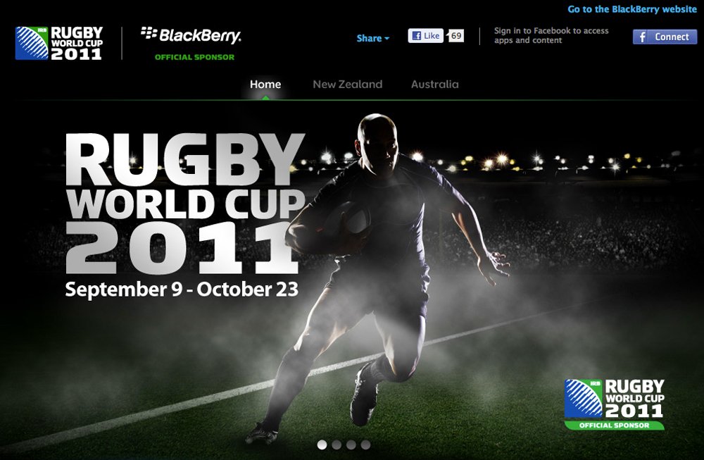 Blackberry Rugby World Cup - The Inspiration Room