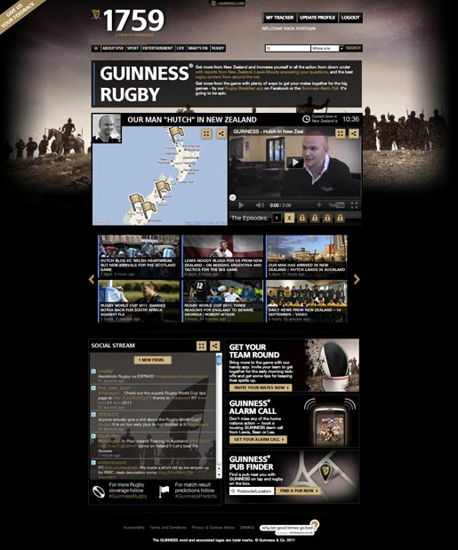 Guinness 1759 Rugby page