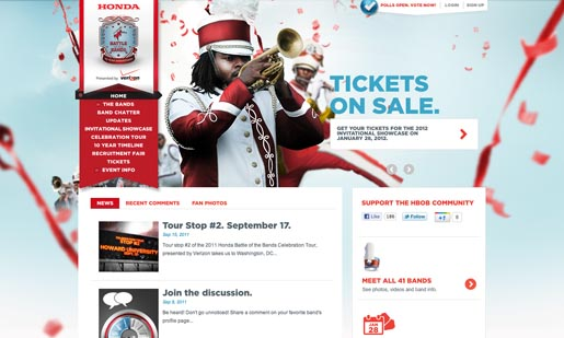 Honda Battle of the Bands site