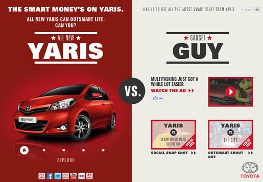 Toyota Yaris vs Gadget Guy