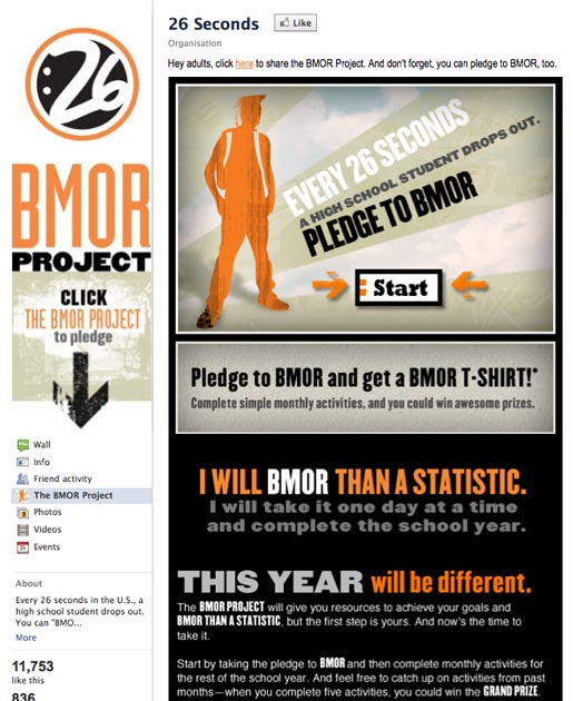 BMOR Project 26 Seconds Facebook page