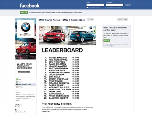 BMW Facebook Leaderboard