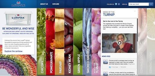 Lurpak Wonderful and Wise site