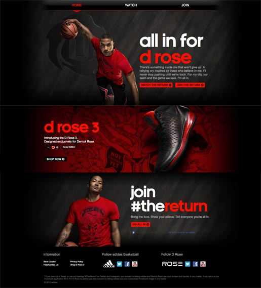Adidas The Return site