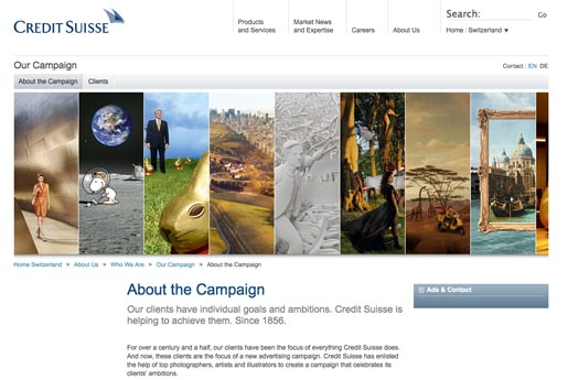 Credit Suisse Clients site