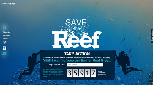 Greenpeace Save the Reef petition
