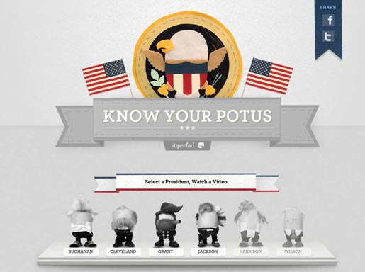 Know Your POTUS site