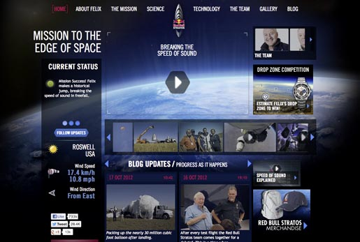 Red Bull Stratos site