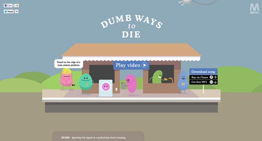 Dumb Ways to Die site