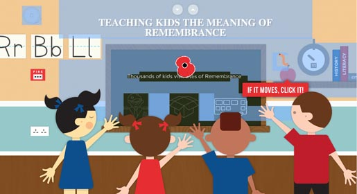 Teaching the kids the meaning of Remembrance