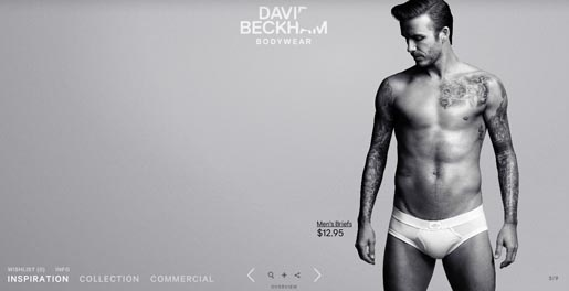 David Beckham Bodywear site