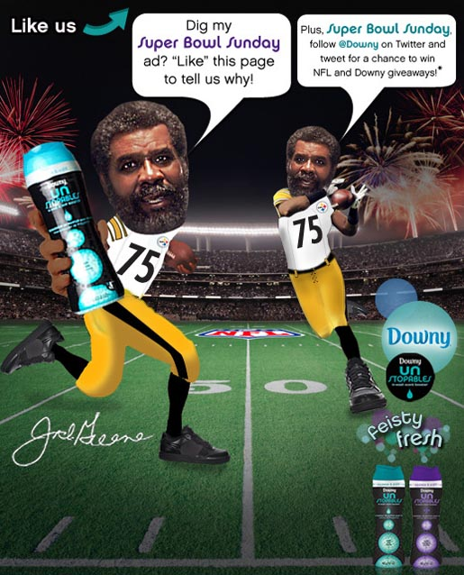 Downy Mean Joe Greene