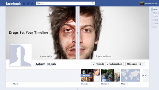 Drugs Timeline on Facebook