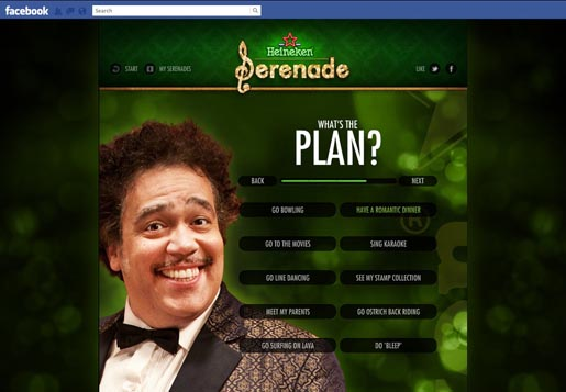 Heineken Serenade Your Date on Facebook - What's The Plan?