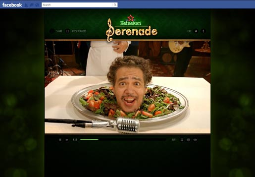 Heineken Serenade Your Date on Facebook