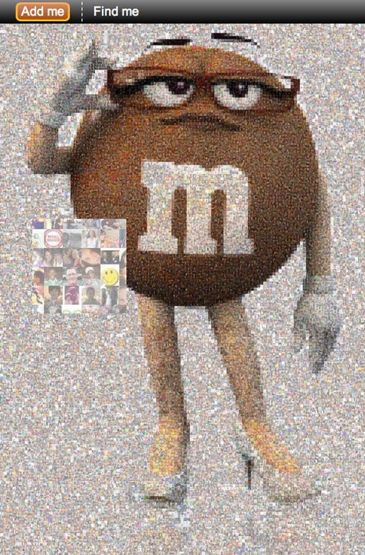 M&Ms Ms Brown Mosaic on Facebook