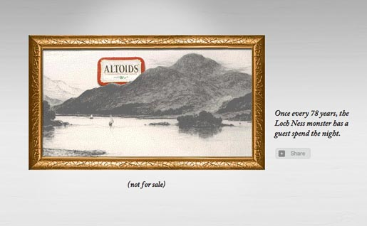 Altoids Loch Ness in Hall of Curiosity