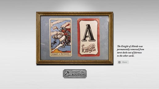 Altoids Tarot Card in Hall of Curiosity