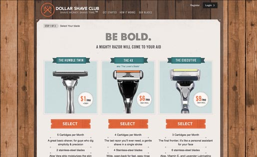 Dollar Shave Club Be Bold