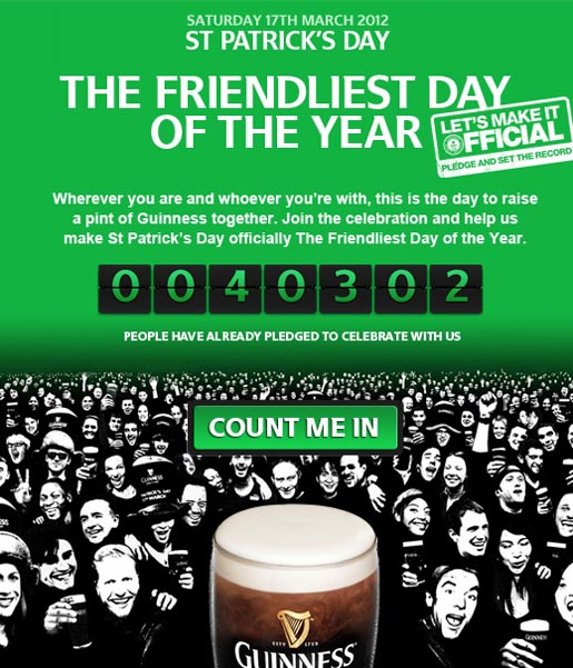 Guinness St Patrick's Day Friendliest Day of the Year