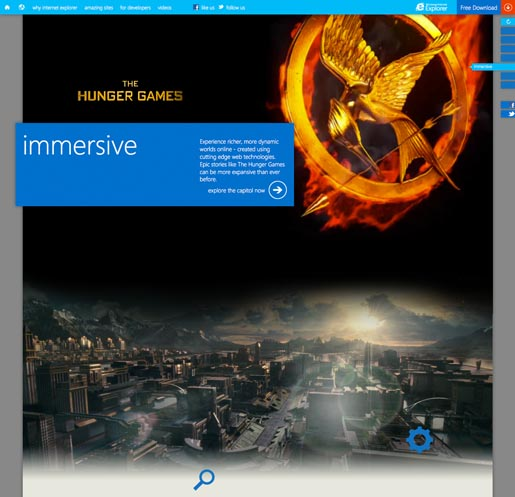 Internet Explorer Immersive