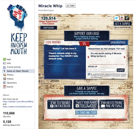 Miracle Whip Facebook page
