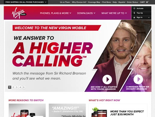 Virgin Mobile Higher Calling