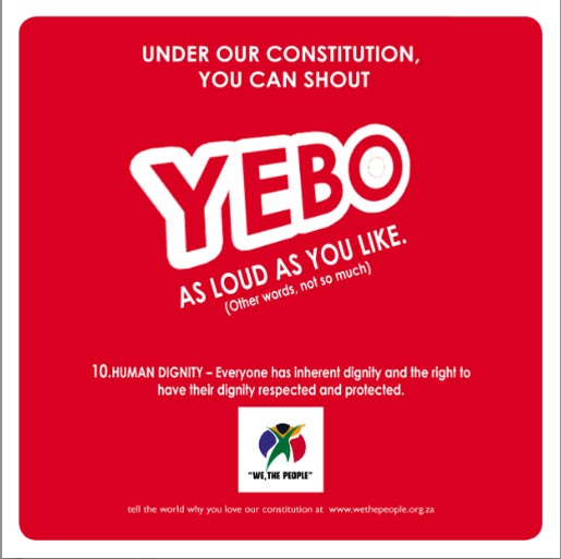 We The People Shout Yebo