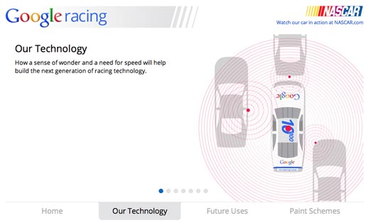 Google Racing Our Technology
