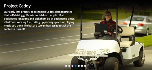 Google Racing Project Caddy