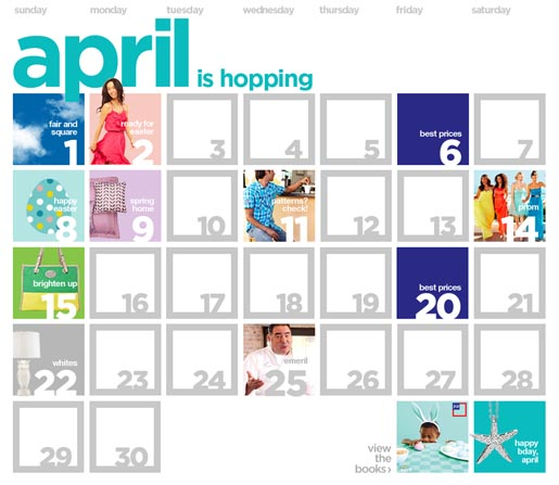 JCPenney April 2012 Calendar