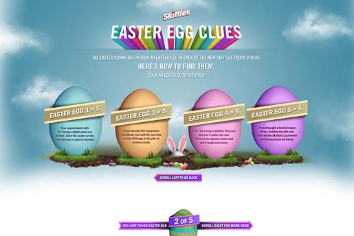 Skittles Easter Egg Clues