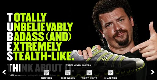 K-Swiss Kenny Powers Microsite